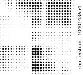 grunge halftone black and white ... | Shutterstock . vector #1040143654
