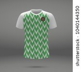 football kit of nigeria 2018  t ... | Shutterstock .eps vector #1040144350