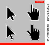 black arrow and pointer hand... | Shutterstock .eps vector #1040151526