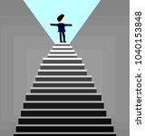 business man  standing on top... | Shutterstock .eps vector #1040153848