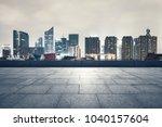 hangzhou town square | Shutterstock . vector #1040157604