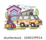 collect things for recreation... | Shutterstock .eps vector #1040159914