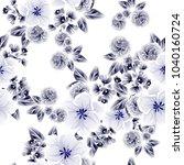 vintage delicate invitation... | Shutterstock .eps vector #1040160724