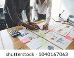 business people planning... | Shutterstock . vector #1040167063