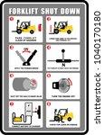 sticker  forklift  shut down | Shutterstock .eps vector #1040170180