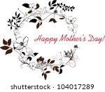 happy mothers day decorated... | Shutterstock .eps vector #104017289