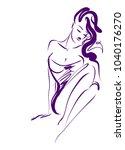 vector  stylish  original hand... | Shutterstock .eps vector #1040176270