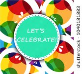 abstract celebration background ... | Shutterstock .eps vector #1040181883