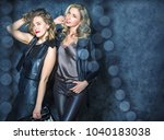 beautiful carefree girls in the ... | Shutterstock . vector #1040183038