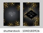 anniversary luxury backgrounds... | Shutterstock .eps vector #1040183926