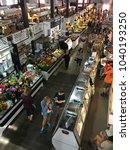 Small photo of Lancaster, PA, USA September22, 2017 Shoppers roam the Central Market in Lancaster, Pennsylvania seeking farm fresh fruits and vegetables, fresh meats and Amish crafts
