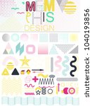 set of 50 shiny colorful... | Shutterstock .eps vector #1040193856