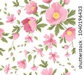 spring flowers pattern.... | Shutterstock .eps vector #1040196433
