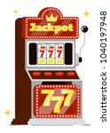 casino concept isolated on... | Shutterstock . vector #1040197948