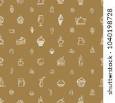 seamless brown pattern with... | Shutterstock .eps vector #1040198728