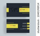horizontal business card with... | Shutterstock .eps vector #1040198914