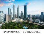 kuala lumpur city skyline ... | Shutterstock . vector #1040206468
