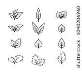set leaf icon vector | Shutterstock .eps vector #1040206960