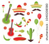 celebration of cinco de mayo in ... | Shutterstock .eps vector #1040208580