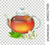 tea. kettle. glass transparent... | Shutterstock .eps vector #1040217430