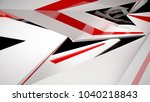abstract white  black and red... | Shutterstock . vector #1040218843