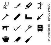 solid vector icon set  ... | Shutterstock .eps vector #1040219800