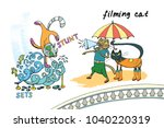 illustration of a set of a cute ...   Shutterstock .eps vector #1040220319