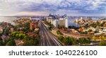wide warringah freeway and... | Shutterstock . vector #1040226100