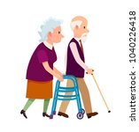 old people banner with grandpa... | Shutterstock .eps vector #1040226418