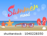 summer mood  beauty seascape ... | Shutterstock .eps vector #1040228350