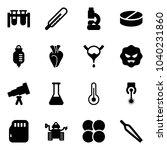 solid vector icon set   vial... | Shutterstock .eps vector #1040231860
