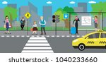 city street and road public... | Shutterstock .eps vector #1040233660