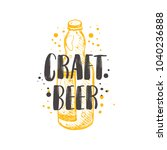 craft beer concept design. logo ... | Shutterstock .eps vector #1040236888