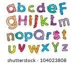 playful kid font | Shutterstock .eps vector #104023808