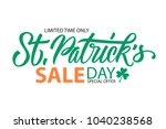 st. patrick's day sale special... | Shutterstock .eps vector #1040238568
