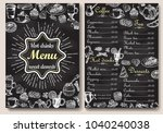 restaurant hot drinks menu... | Shutterstock . vector #1040240038