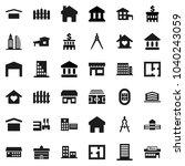 flat vector icon set  ... | Shutterstock .eps vector #1040243059