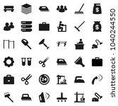 flat vector icon set   scraper... | Shutterstock .eps vector #1040244550