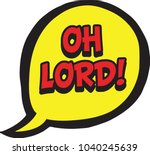 oh lord bubble | Shutterstock .eps vector #1040245639