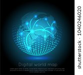 global network connection.... | Shutterstock .eps vector #1040246020