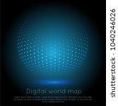 global network connection.... | Shutterstock .eps vector #1040246026