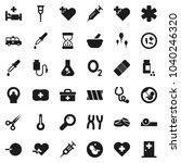 flat vector icon set   flask... | Shutterstock .eps vector #1040246320