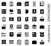 flat vector icon set   case... | Shutterstock .eps vector #1040246380