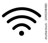 black wifi connect internet icon | Shutterstock .eps vector #1040248480