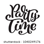 Hand Drawn Text Party Time Card....