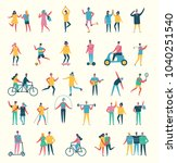 vector illustration in flat... | Shutterstock .eps vector #1040251540
