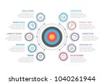 infographic template with... | Shutterstock .eps vector #1040261944