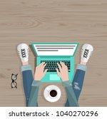 freelance concept. freelancer... | Shutterstock .eps vector #1040270296