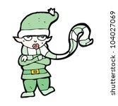 cartoon christmas elf | Shutterstock .eps vector #104027069