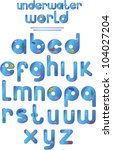 the underwater world alphabet... | Shutterstock .eps vector #104027204